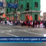 Seguidores y opositores de Keiko Fujimori se liaron a golpes