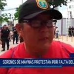 Iquitos: Serenos de Maynas protestan por falta de pago
