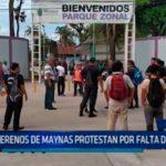 Iquitos: Serenos de Maynas protestan por falta del pago