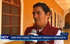 """Sobre Keiko Fujimori: """"Deben dejar trabajar al Poder Judicial"""""""
