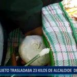 Piura: Sujeto trasladaba 23 kilos de alcaloide de cocaína