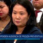 Suspenden audiencia de prisión preventiva para Keiko