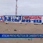 Chiclayo: Atacan pintas políticas de candidato regional