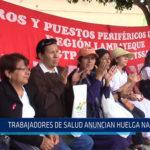 Chiclayo: Trabajadores de salud anuncian huelga nacional