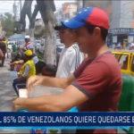 Chiclayo: El 85% de venezolanos quiere quedarse en el Perú