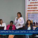 La Libertad: Se comprometen en lucha contra la violencia a la mujer