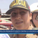 Chiclayo: Policía promueve evento contra la violencia a la mujer