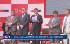 Chiclayo: Realizan lanzamiento de agenda del bicentenario