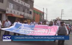 Chiclayo: Consejero Regional participó en polémica marcha