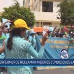 Chiclayo: Enfermeros reclaman mejores condiciones laborales