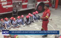 Chiclayo: Son 28 niños los que fueron afectados por pirotécnicos