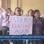 Chiclayo: Militantes apristas de Lambayeque apoyan a Alan García