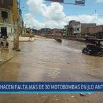 Chiclayo: Hace falta más de 30 motobombas en JLO ante lluvias