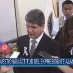 Chiclayo: Cuestionan actitud de expresidente Alan García