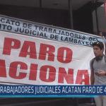 Chiclayo: Trabajadores judiciales acatan paro de 48 horas