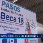 Chiclayo: Alumnos de quinto de secundaria podrán acceder a beca 18