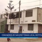 Chiclayo: Comuneros de San José toman local institucional