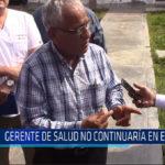 Chiclayo: Gerente de Salud no continuará en el cargo