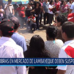 Chiclayo: Obras en mercado de Lambayeque deben suspenderse