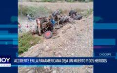 Accidente en la Panamericana deja un muerto y dos heridos