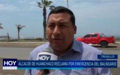 Alcalde de Huanchaco reclama por emergencia del balneario