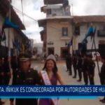 Srta. Iñikuk es condecorada por autoridades de Huamachuco