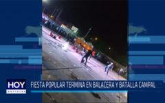 Chiclayo: Fiesta popular termina en balacera y batalla campal