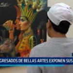 Egresados de Bellas Artes exponen obras