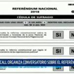 Call organiza conservatorio sobre el referéndum 2018