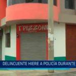 Policía resulta herido tras enfrentarse a delincuentes