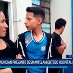 Denuncian presunto desmantelamiento de Hospital de EsSalud