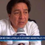 Aún no concluyen las elecciones municipales y regionales