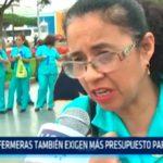 Enfermeras también exigen más presupuesto para su sector