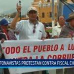Fonavistas protestan contra la corrupción en alusión a Chávarry