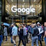 Empleados de Google en Dublín realizaron este jueves un paro simbólico