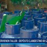 Intervienen taller – depósito clandestino de gas doméstico