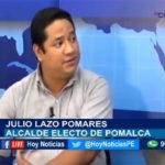 Chiclayo: En Hoy Noticias entrevistamos al alcalde de Pomalca. Julio Lazo Pamares