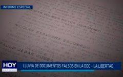 Lluvia de documentos falsos en la DDC – La Libertad