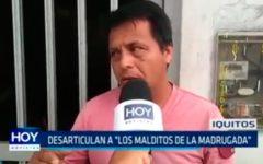 """Iquitos: Desarticulan a """"Los malditos de la madrugada"""""""