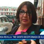 """Luisa Revilla: """"Me siento decepcionada de Elidio Espinoza"""""""