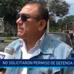 No solicitaron permiso de Defensa Civil