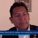 Propone dragado de arena por emergencia en Huanchaco