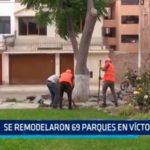 Se remodelaron 69 parque en Víctor Larco