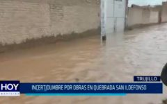 Incertidumbre por obras en quebrada San Ildefonso