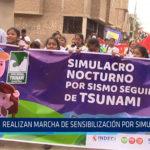 Chiclayo: Realizan marcha de sensibilización por simulacro