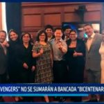 """Avengers"" no se sumarán a bancada ""Bicentenario del Perú"""