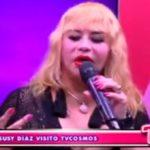 Susy Díaz visitó TV Cosmos