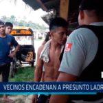 Iquitos: Vecinos encadenan a presunto ladrón