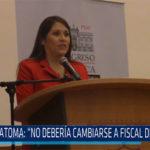 Chiclayo: Vilcatoma: No debería cambiarse a Fiscal de la Nación