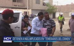 """Chiclayo: Detienen a más implicados en """"Temerarios del crimen"""""""